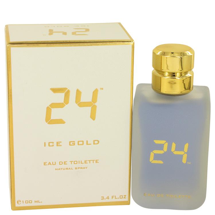 24 Ice Gold by ScentStory Eau De Toilette Spray 3.4 oz (100ml)