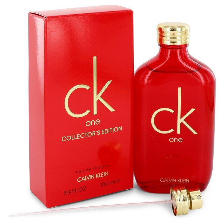 CK ONE by Calvin Klein Eau De Toilette Spray (Unisex Red collector's Edition) 3.3 oz (100ml)