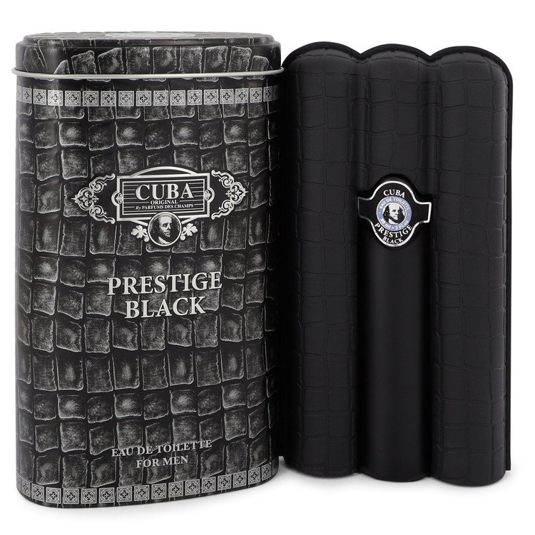 Cuba Prestige Black by Fragluxe Eau De Toilette Spray 3 oz