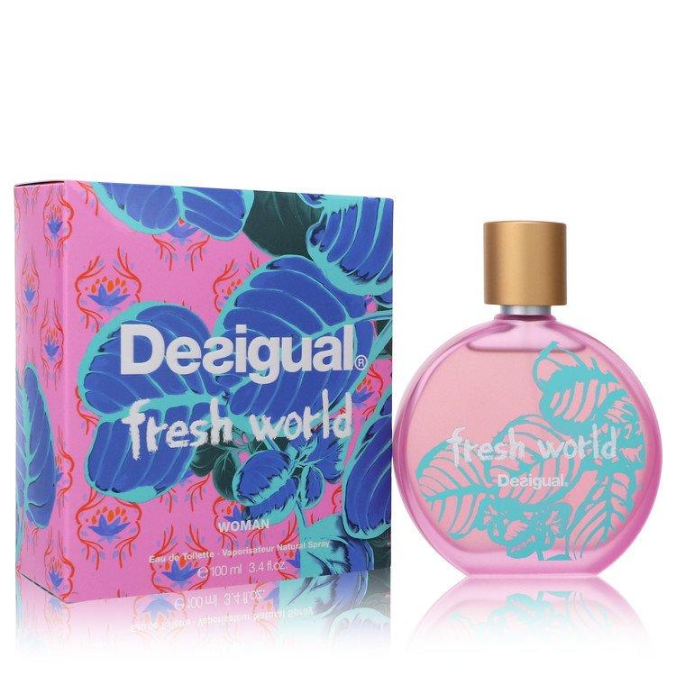 Desigual Fresh World by Desigual Eau De Toilette Spray 3.4 oz (100ml)