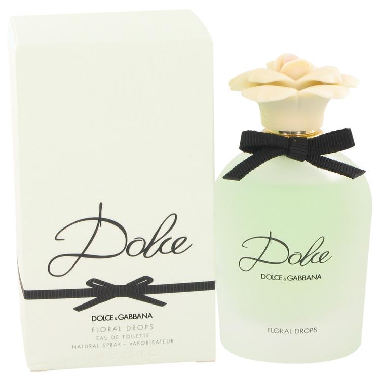 Dolce Floral Drops by Dolce & Gabbana Eau De Toilette Spray 2.5 oz (75ml)
