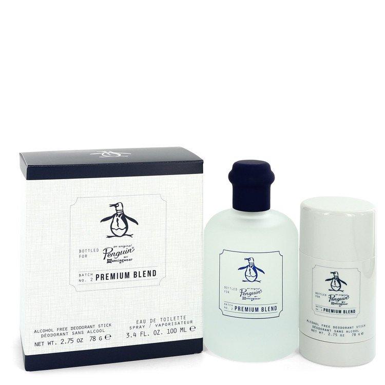 Original Penguin Premium Blend by Original Penguin Gift Set - 3.4 oz (100ml) Eau De Toilette Spray + 2.75 oz Deodorant Stick (Alcohol Free)