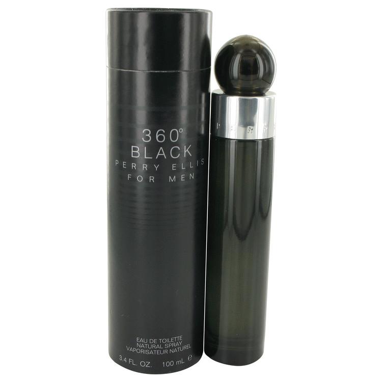 Perry Ellis 360 Black by Perry Ellis Eau De Toilette Spray 3.4 oz (100ml)