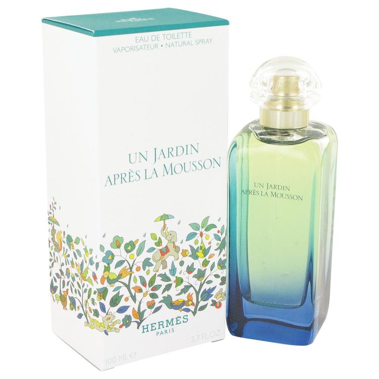 Un Jardin Apres La Mousson by Hermes Eau De Toilette Spray (Unisex) 3.4 oz (100ml)