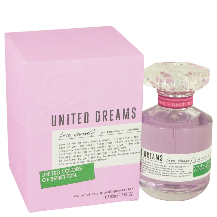 United Dreams Love Yourself by Benetton Eau De Toilette Spray 2.7 oz