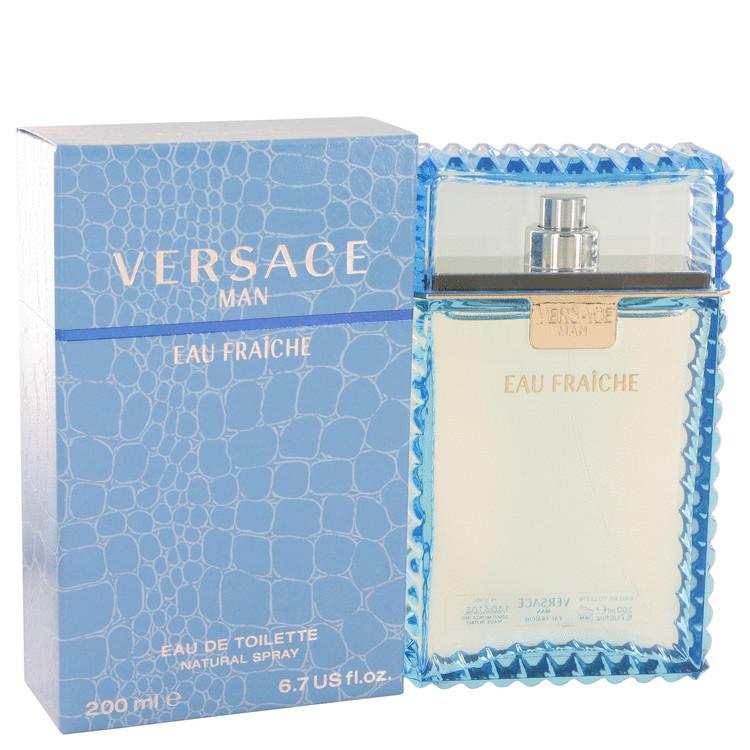 Versace Man by Versace Eau Fraiche Eau De Toilette Spray (Blue) 6.7 oz (200ml)
