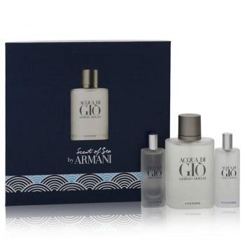 Acqua Di Gio Gift Set: 3.4 oz Eau De Toilette Spray + 2x 0.5 oz Mini EDT Sprays