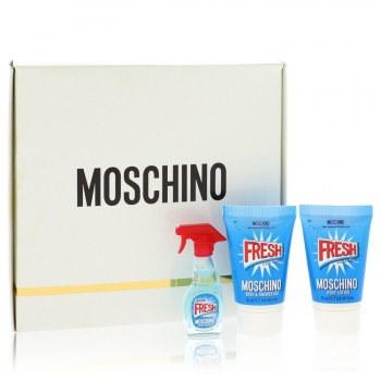Moschino Fresh Couture Gift Set: 0.17 oz Mini EDP Spray + 0.8 oz Body Lotion + 0.8 oz Shower Gel